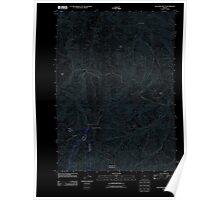 USGS Topo Map Oregon Dutchman Butte 20110831 TM Inverted Poster