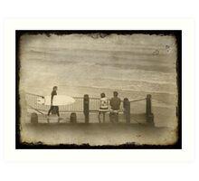 Surfs Out Art Print