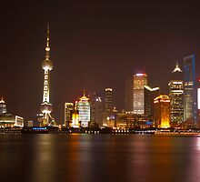 Shanghai City Lights by Ian Fraser