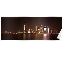 Shanghai City Lights Poster