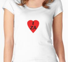 I Love South Africa - Country Code ZA T-Shirt & Sticker Women's Fitted Scoop T-Shirt