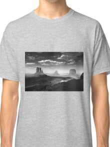 Monument Valley in Black & White  Classic T-Shirt