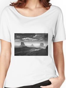 Monument Valley in Black & White  Women's Relaxed Fit T-Shirt