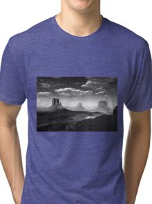 Monument Valley in Black & White  Tri-blend T-Shirt