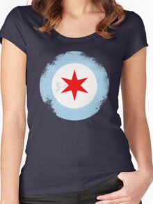 Chicago Mod Distressed Women's Fitted Scoop T-Shirt