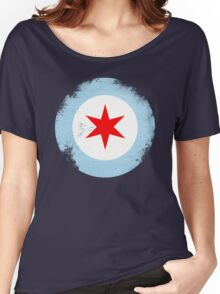 Chicago Mod Distressed Women's Relaxed Fit T-Shirt
