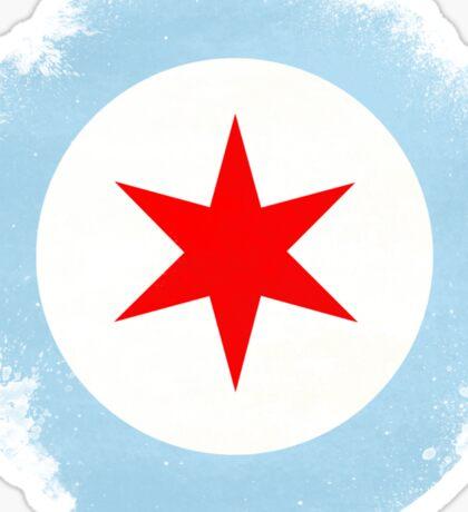 Chicago Mod Distressed Sticker