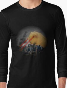 Guinea Pig Attacking Tokyo with Laser Eyes REDUX Long Sleeve T-Shirt