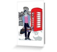 London street fashion Greeting Card