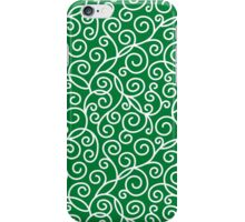 Green Swirl Pattern iPhone Case/Skin