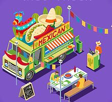 Mexican Taco Food Truck by aurielaki