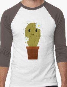 Cute baby cactus Men's Baseball ¾ T-Shirt
