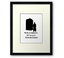 Doctor who - Ten's quote Framed Print