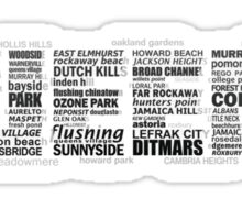 Queens New York Typography Text Sticker