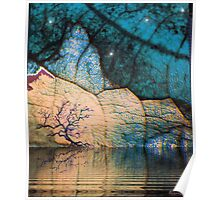 landscape - blue fantasy - nature art Poster