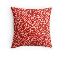 Red Swirl Pattern Throw Pillow