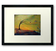 the storm - landscape - natural world gallery Framed Print