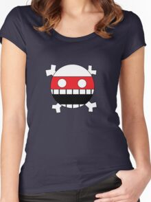 Face and Crossbones Women's Fitted Scoop T-Shirt