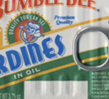 A can of Sardines. Sticker