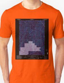 USGS Topo Map Oregon Groundhog Mountain 280110 1997 24000 Inverted T-Shirt