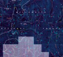 USGS Topo Map Oregon Groundhog Mountain 280110 1997 24000 Inverted Sticker
