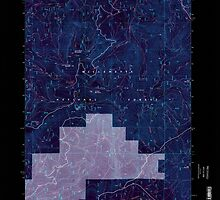 USGS Topo Map Oregon Groundhog Mountain 280110 1997 24000 Inverted by wetdryvac