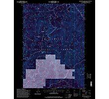 USGS Topo Map Oregon Groundhog Mountain 280110 1997 24000 Inverted Photographic Print