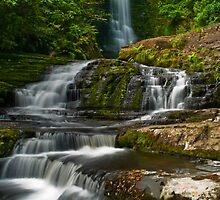 Matai Falls Catlins - New Zealand  by Paul Gilbert