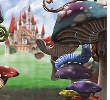 Caterpillar in the Wonderland Toadstool Forest by ImogenSmid