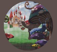 Caterpillar in the Wonderland Toadstool Forest One Piece - Short Sleeve