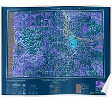 USGS Topo Map Washington Vancouver 707655 1950 250000 Inverted Poster