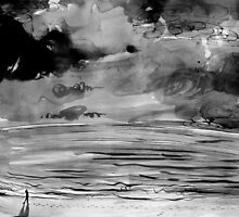 storm forming over hastings point beach by Loui  Jover