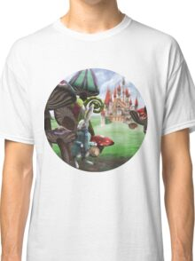 White Rabbit in the Wonderland Toadstool Forest Classic T-Shirt