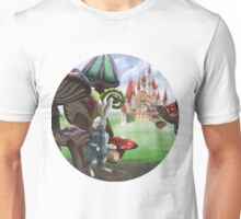 White Rabbit in the Wonderland Toadstool Forest Unisex T-Shirt