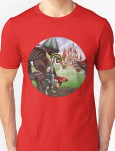 White Rabbit in the Wonderland Toadstool Forest T-Shirt