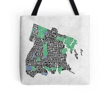 Bronx, New York City Typography Map Tote Bag