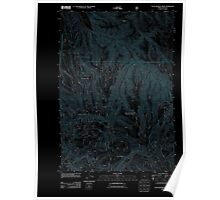 USGS Topo Map Oregon Little Beaver Creek 20110727 TM Inverted Poster
