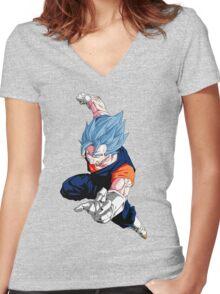 Super Saiyan God Super Saiyan Vegito Women's Fitted V-Neck T-Shirt