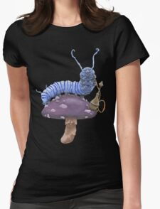 Who Are You? The Wonderland Caterpillar on Mushroom  Womens Fitted T-Shirt