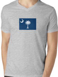 South Carolina State Flag Columbia Bedspread T-Shirt Sticker Mens V-Neck T-Shirt