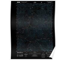USGS Topo Map Oregon Sterling Creek 20110715 TM Inverted Poster