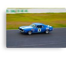 Blue Camaro   Canvas Print