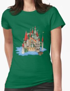 The Red Queen's Wonderland Castle Womens Fitted T-Shirt