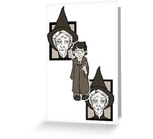McGonagall Greets the First Years Greeting Card