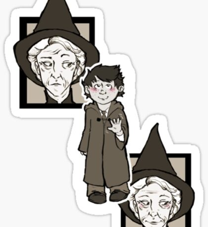 McGonagall Greets the First Years Sticker