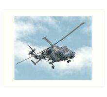 Royal Navy Black Cats Lynx Wildcat HMA2 Art Print