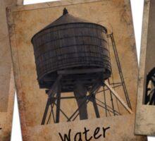 New York Water Tower Polaroids Sticker