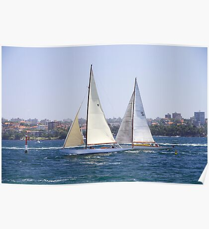 Sailing on the Harbour Poster