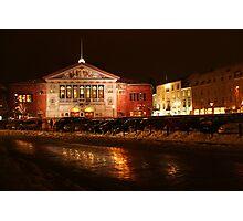 Århus Theater at Night Photographic Print