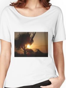Silhouette Sunset Women's Relaxed Fit T-Shirt